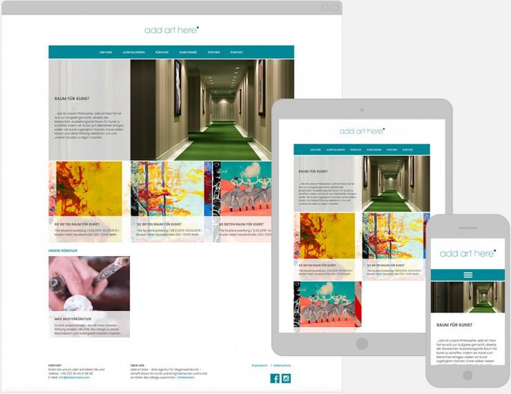 Screenshot der Startseite der Gestaltung eines WordPress Themes
