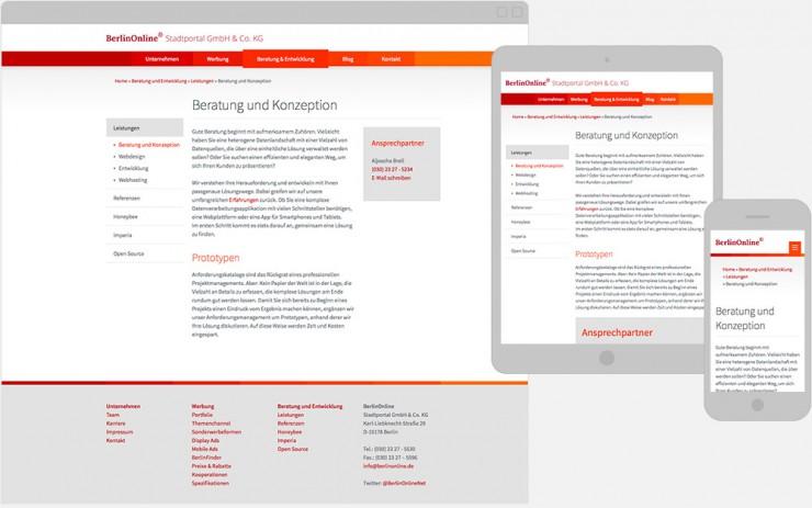 Screenshot Unterseite