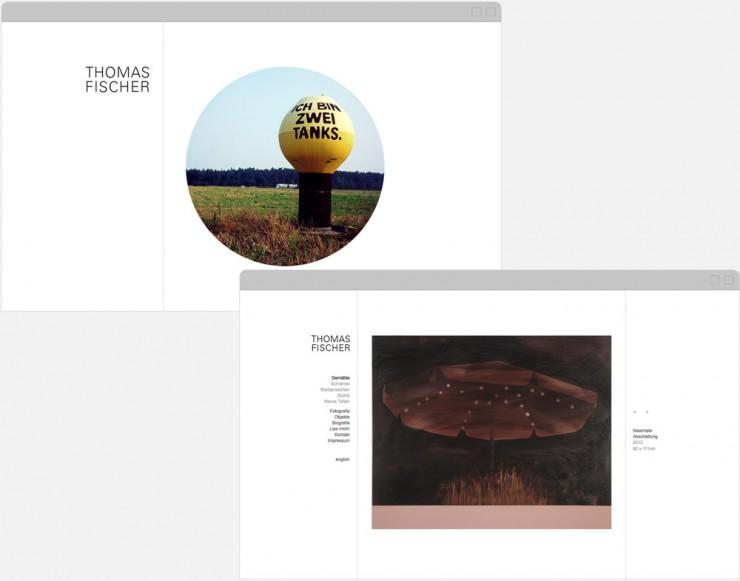 Screenshots von Startseite und Unterseite