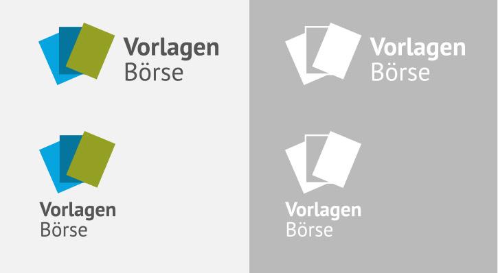 Logoentwurf in verschiedenen Varianten