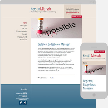 Screenshot Webseite Kerstin Miersch