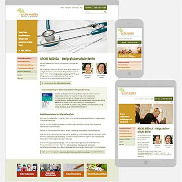 Screenshot Heilpraktikerschule Arche Medica
