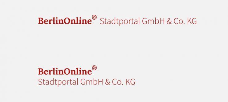 Logoüberarbeitung: BerlinOnline Stadtportal GmbH & Co. KG
